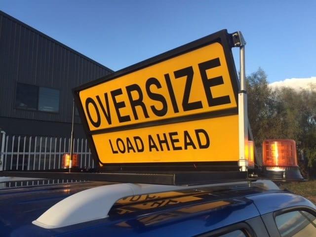Oversize Load Ahead Motorised Pilot Vehicle Sign