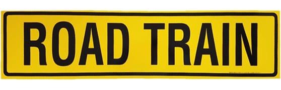 Road Train Sign