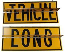 Long Vehicle - Road Train Metal Flip Sign