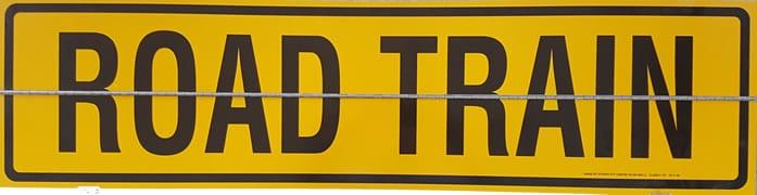 Hinged Road Train Metal Sign